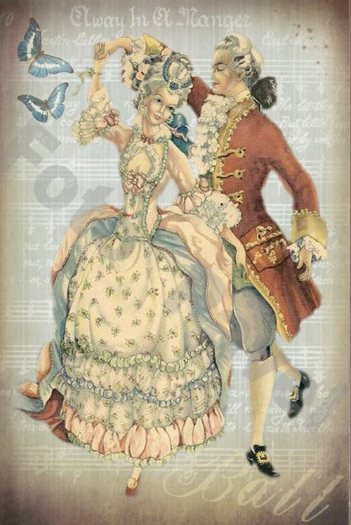 Vintage motiv - tanečníci