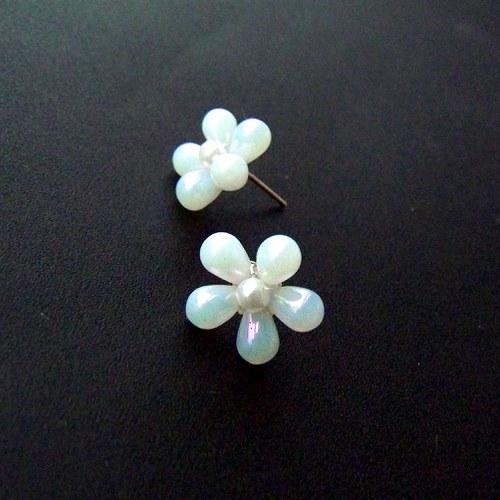 Bílé kytičky s perleťovým leskem