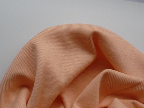 Náplet elastický žebrovaný -  oranžový