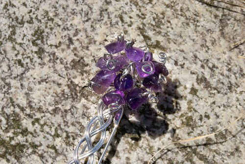 Ametystová kytice fialek