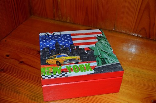 Krabička, šperkovnice - New York