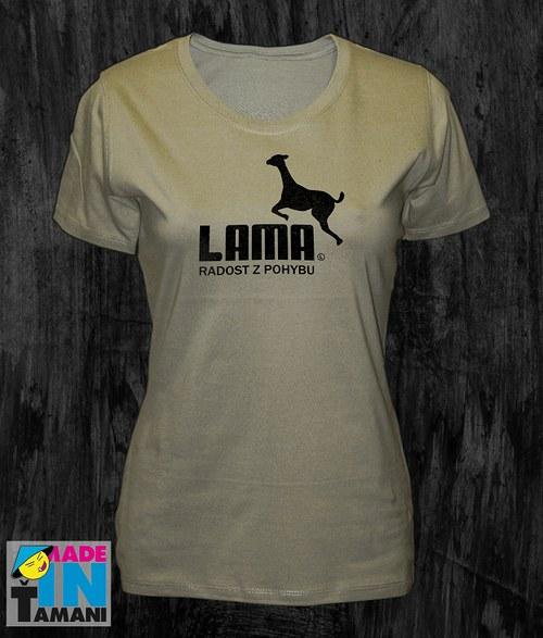 Dámské khaki tričko s Lamou