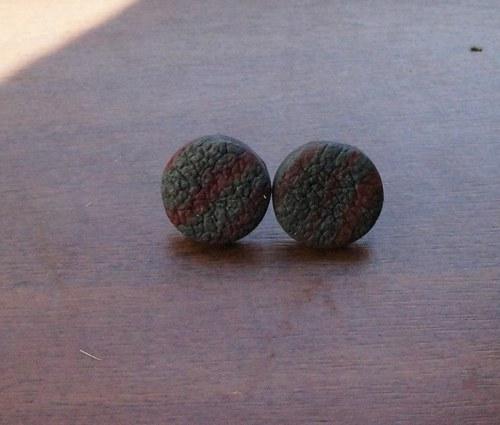 Pecky strukturované - šedo-červené