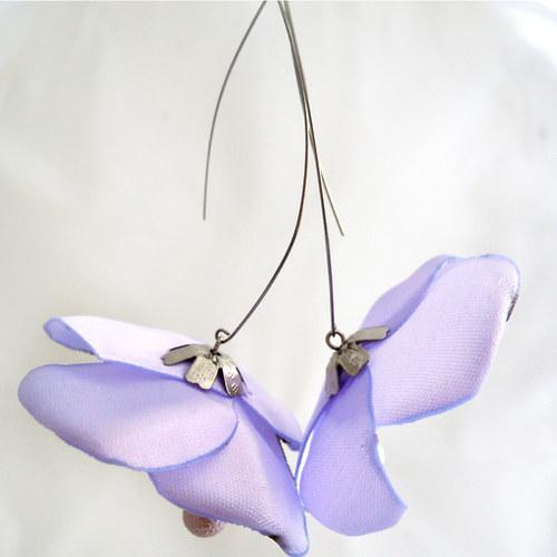 Náušnice: Světlounce fialové květy