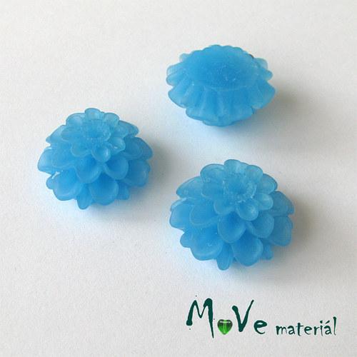 Kabošon květ transparent A5- resin -2ks, stř.modrý