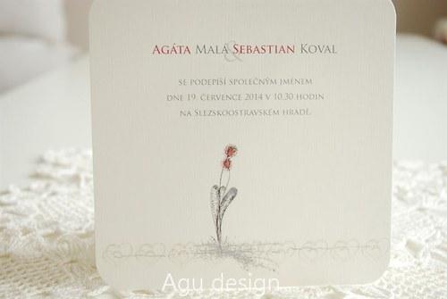 Květy ve dvou - svatební oznámení