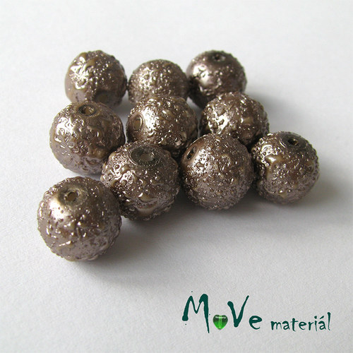 "Voskové perle \""Zigana\"" 10mm, 10ks, béžové"