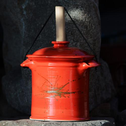 Kvašák mini rovný s vodním zámkem 1,4l- Ohnivý rej