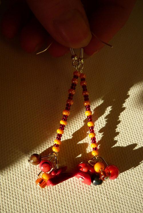 Náušnice Oranžové - letní