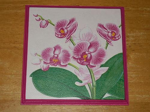 Obrázek na MDF destičce Orchidej I