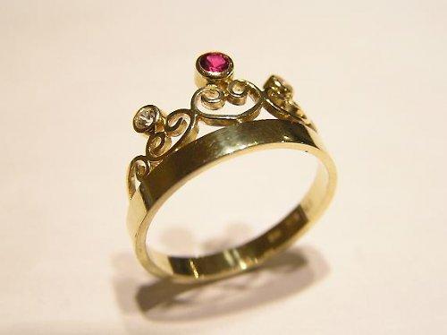 Prsteň koruna