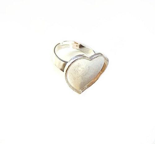 Prsten základ, lůžko srdce, 20 mm - 1 kus