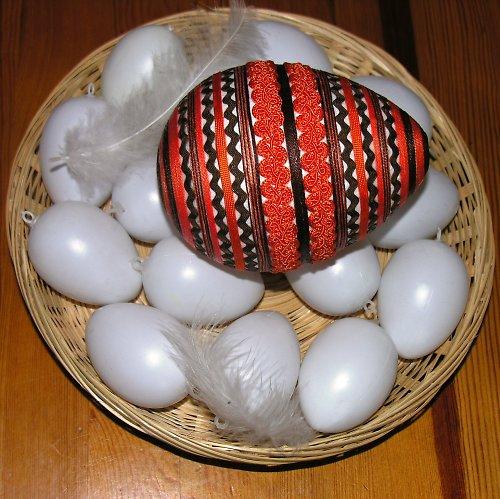 Velikonoční vejce XXL - hnědo-oranžové