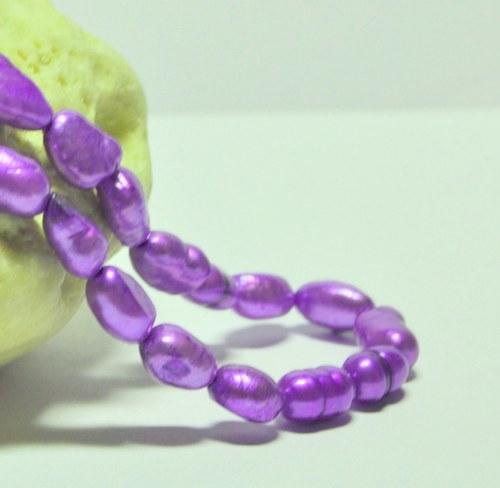 PR225 Royal Purple - říční perly 8-10x7mm /2ks/