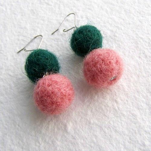Růžovo zelené chlupatky