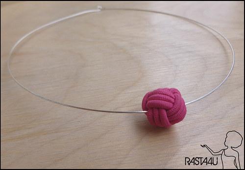 Náhrdelník - růžová kulička
