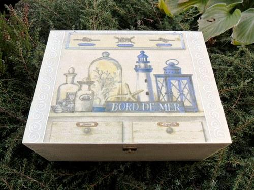 "Krabička na čaj \""Bord de Mer\"""