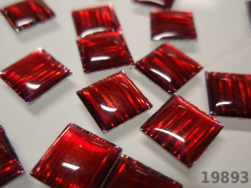 19893-B10 Kámen nažehlovací velký červený, 2ks