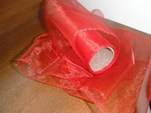 dekorační látka -organza obšitá  š.15cm