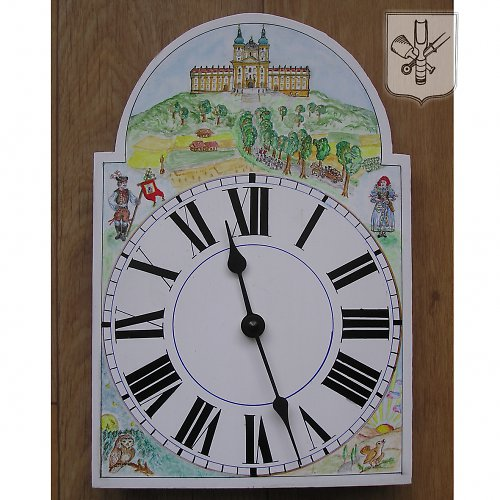 Ručně malované hodiny - Svatý Kopeček u Olomouce
