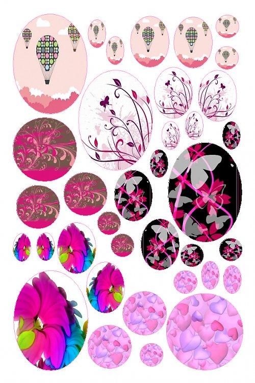 mix motivů růžových 02