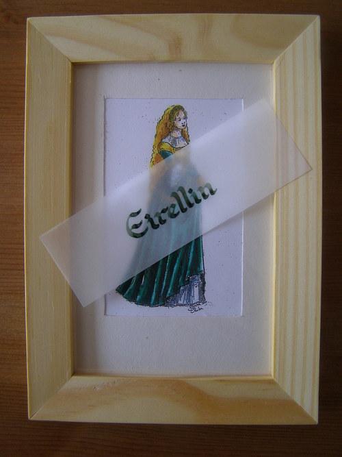 Renesanční dáma v zeleném - sleva z 288,-