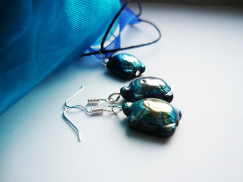 Modré skleněné želvičky