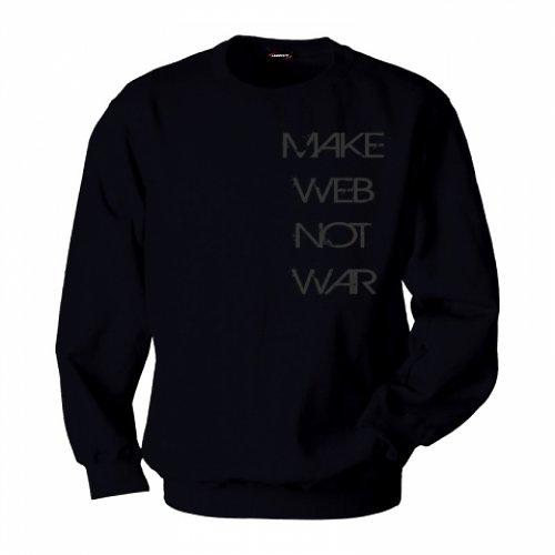Pánská mikina ,,MAKE WEB NOT WAR,,
