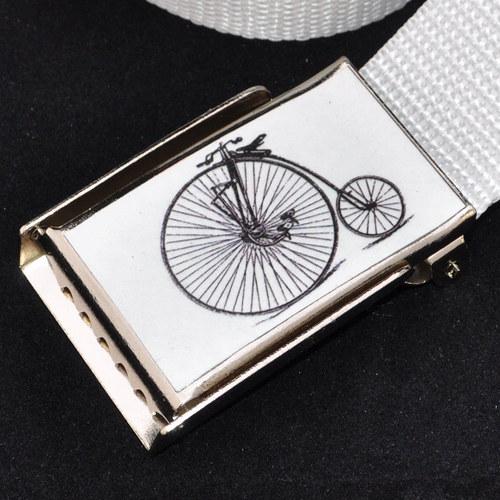 Dámský opasek do bokovek - bicykl bílá