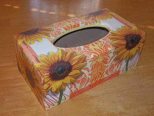 Krabička na kapesníky Slunečnice