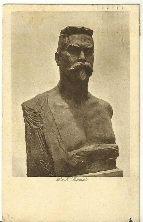 Umělecká pohlednice socha Dr.K.Kramář