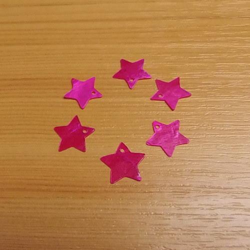 Perleťové hvězdičky - 13  mm - průsvitné
