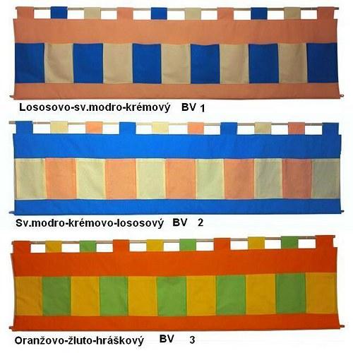 Kapsář za postel - Trojbarevný 200 x 50cm BV1,2,3