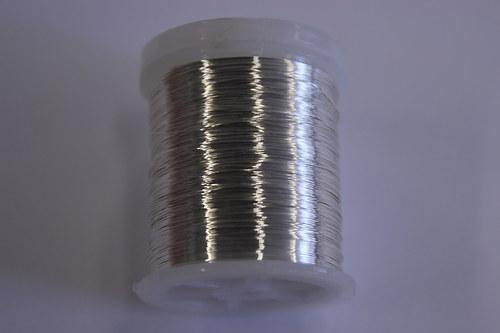 Měděný drátek 03mm - stříbrný, návin 48,5-50m
