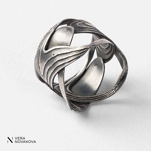 Prsten Sepiserie - patinované stříbro