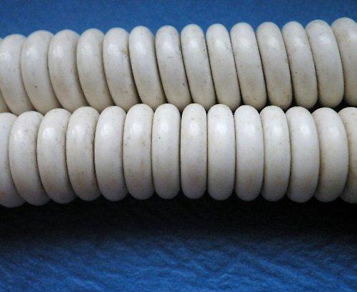 Howlitové rondelky bílé - 6ks