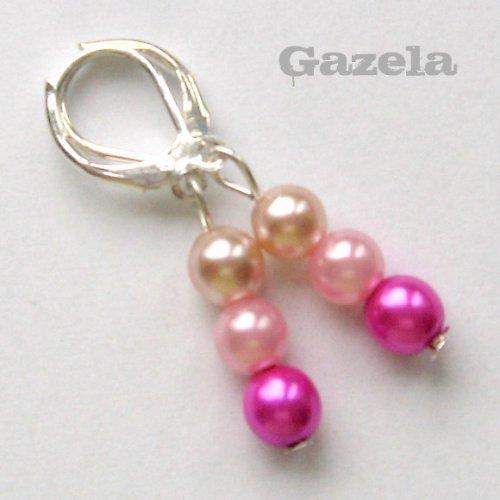 Náušnice Perličkové růžové