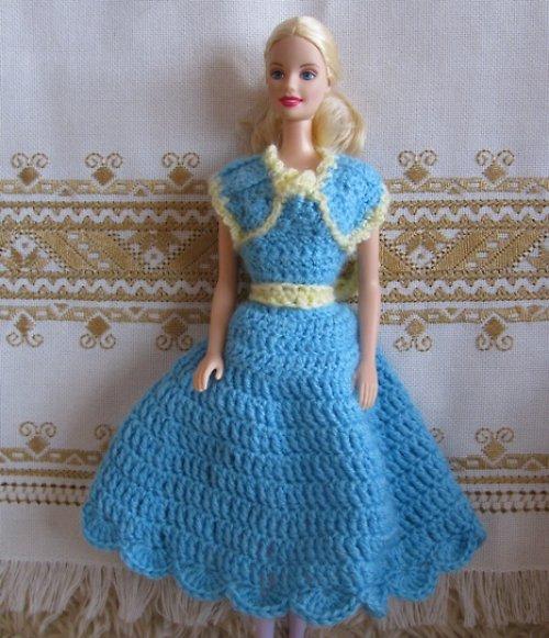 Barbie - modré šaty