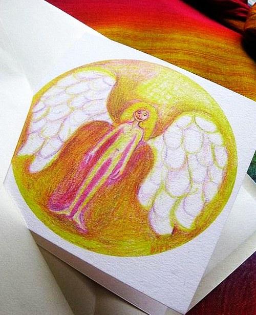 Anjelik2.-autorská pohladnica-prianie