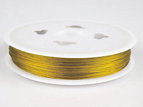 Lanko bižuterní/ 0,38mm/ zlatá /5m