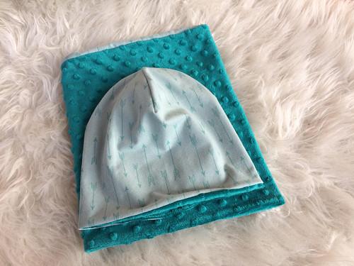 Mentolové šípy - zateplená čepice a nákrčník