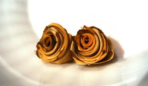 textilné čajové ružičky