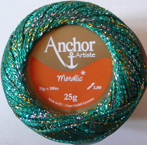 Anchor Artiste Metallic - zeleno-pestrá
