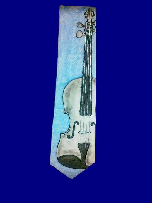 Kravata s houslemi