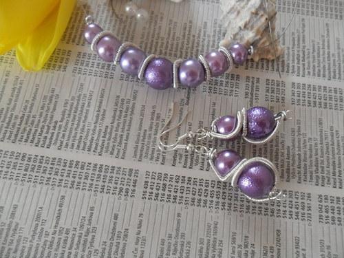 PURPLE SPIRAL náhrdelník