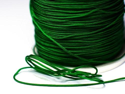 1m šňůrka 0,7mm- zelená