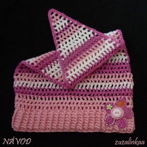 Návod - Šátek s kytičkou