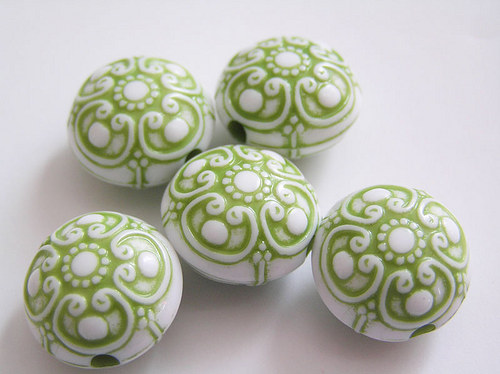 Kulaté čočky zelená