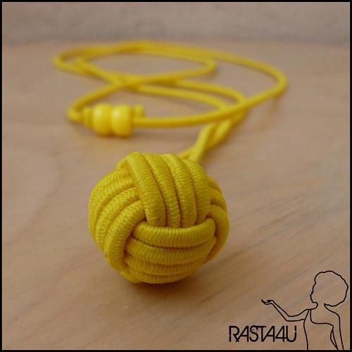 Kuličkový amulet (nastavitelný) - žlutá