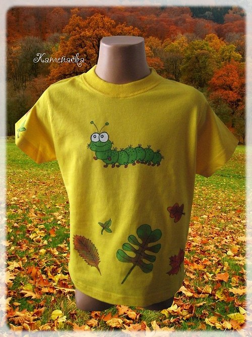 Dětské tričko s housenkou